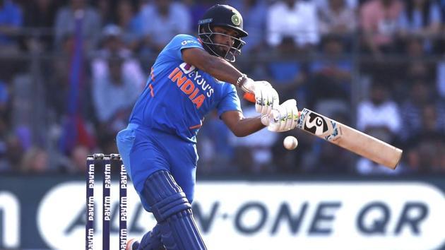 India's Rishabh Pant plays a shot.(ANI)