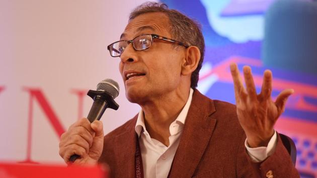 Abhijit Banerjee said the slowdown in the economy will also adversely impact poverty alleviation in the country as urban and rural sectors are interdependent.(Raj K Raj/HT PHOTO)