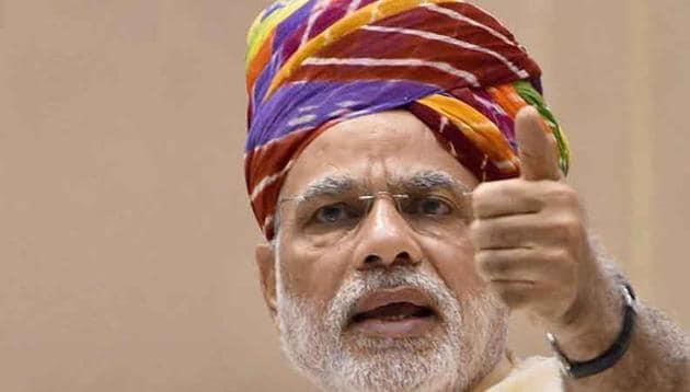 Prime Minister Narendra Modi on Sunday addressed the 61st edition of his monthly radio programme 'Mann Ki Baat'.(PTI)