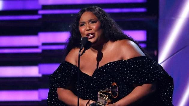 Lizzo accepts the award for Best Pop Solo Performance for Truth Hurts.(REUTERS)