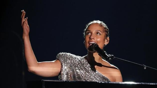 62nd Grammy Awards: Alicia Keys performs a tribute for Kobe Bryant.(REUTERS)