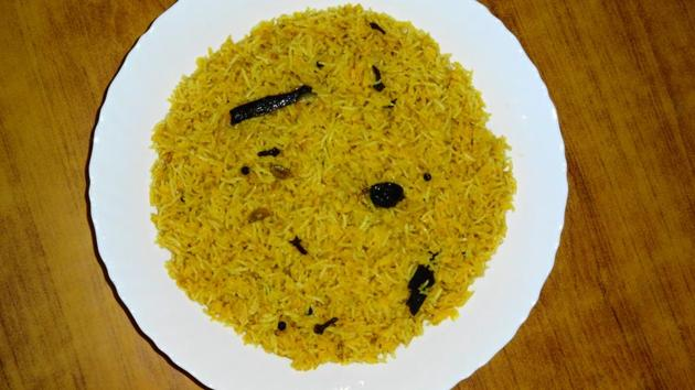 Basant Panchami 2020: Rice and pulses, along with gram and a generous dose of ghee makes up for the appetizing khichri.(Wikimedia Commons)