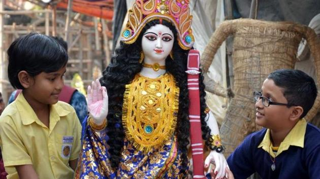 Basant Panchami 2020: Basant Panchami is celebrated on the fifth day of the lunar month of magh (January to February) in the Hindu calendar.(ANI)