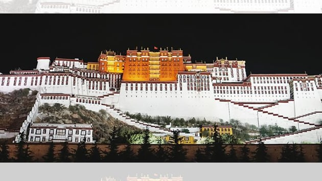 The Potala Palace, a major tourist attraction is a model of ancient architecture and home to over 100,000 pieces of cultural relics. It was listed as a key national cultural relic in 1961.(HT Photo)