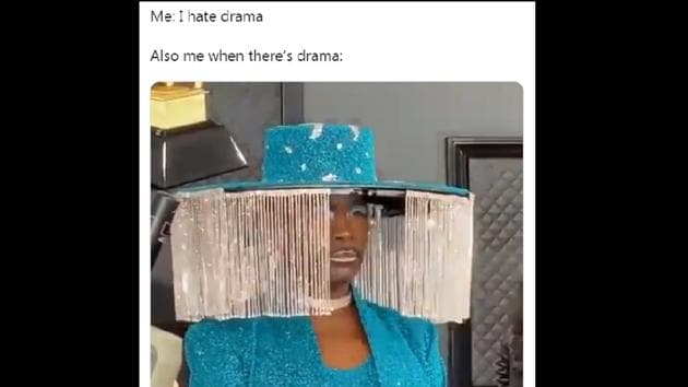 The Grammys 2020 saw a lot of quirky looks and bold fashion choices on the red carpet – especially Billy Porter.(Twitter/@sbstryker)