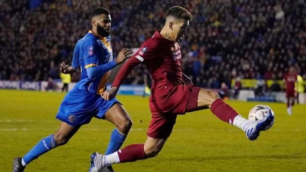 Liverpool's Roberto Firmino in action.(REUTERS)