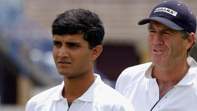 File image of Sourav Ganguly and John Wright(Getty Images)