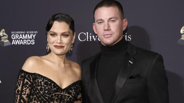 Jessie J, left, and Channing Tatum arrive at the Pre-Grammy Gala And Salute To Industry Icons at the Beverly Hilton Hotel.(Mark Von Holden/Invision/AP)