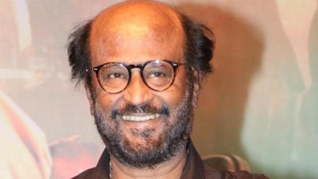 Actor Rajinikanth at the trailer launch of his film Darbar.(IANS)