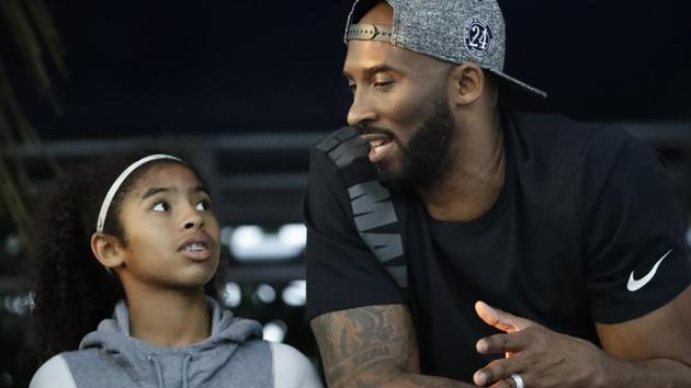 Former Los Angeles Laker Kobe Bryant and his daughter Gianna.(AP file photo)