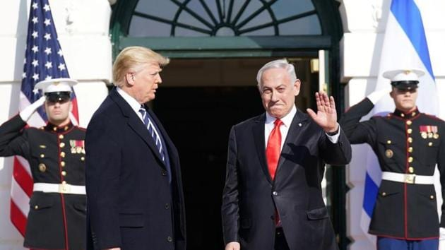 US President Donald Trump welcomes Israel's Prime Minister Benjamin Netanyahu at the White House in Washington, US, January 27, 2020.(Photo: Reuters)