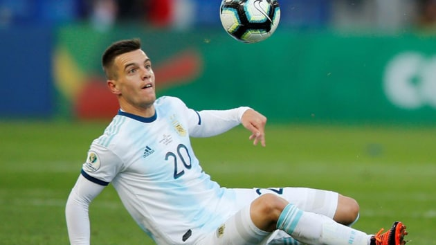 Giovani Lo Celso in action.(Reuters)