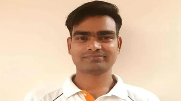 Ravi Yadav became the first bowler in Ranji Trophy history to claim a hat-trick in the very first over on his first-class debut.(Twitter)