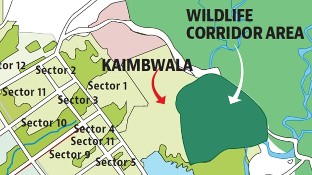 The corridor plan has been virtually abandoned though the administration had approved acquisition of 450 acres in Kaimbwala village for it in 2005 and acquired 50 acres in 2011.(HT PHOTO)