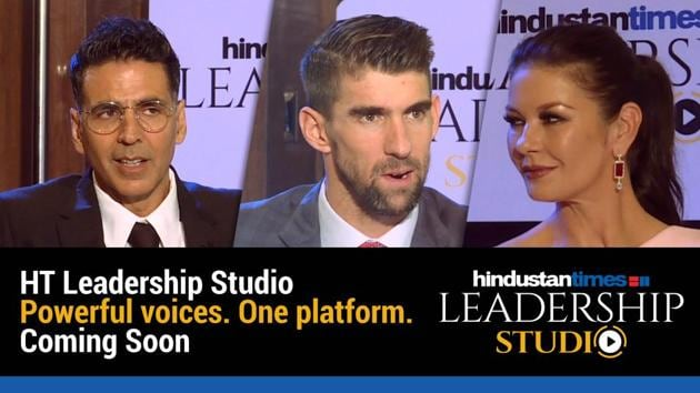 Get ready to immerse yourself in inspiring conversations with some of the most powerful people in the world at the HT Leadership Studio. The first episode featuring Bollywood star Akshay Kumar premiers February 1, 2020. Other celebrities lined up in subsequent episodes include Michael Phelps, Reed Hastings, Michael Douglas & Catherine Zeta Jones, among a slew of powerful leaders. The ground-breaking and often unusual approach of these men and women have changed the way people think about politics, culture, fashion, sports, cinema and other fields. On HT Leadership Studio, they share their success stories with you in the most gripping and relatable format, a one-to-one conversation.