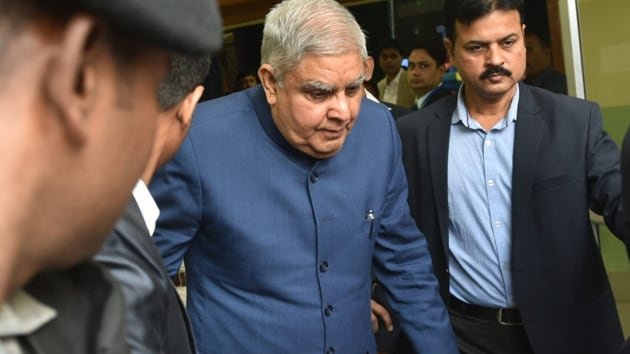 In a string of tweets, Bengal Governor Dhankhar expressed concern over the behaviour meted out to him. (Photo Samir Jana/HT)