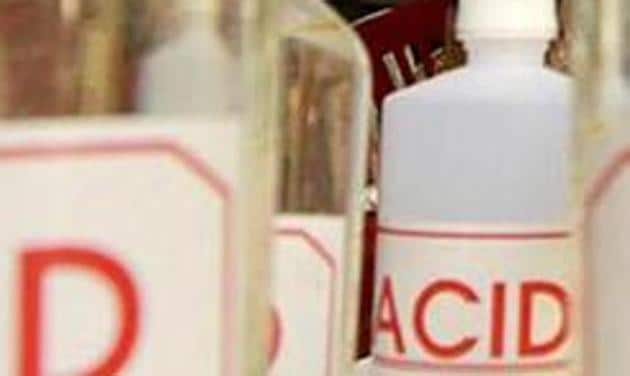 Forty cases of acid attacks, mostly on women, were reported in Uttar Pradesh in 2018 after West Bengal, which has recorded the highest number at 50.(Sanjeev Verma/Hindustan Times)