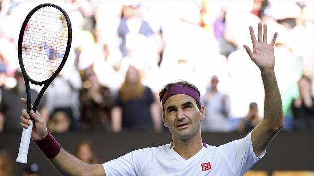 Melbourne: Switzerland's Roger Federer reacts after defeating Tennys Sandgren of the U.S. in their quarterfinal match at the Australian Open tennis championship in Melbourne, Australia.(AP)