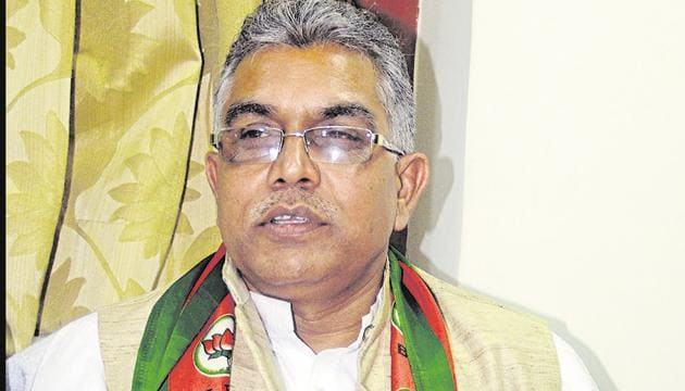 President of BJP's Bengal unit Dilip Ghosh said he was surprised that no protester at Delhi's Shaheen Bagh has died despite the capital's bitter cold.(HT File Photo)