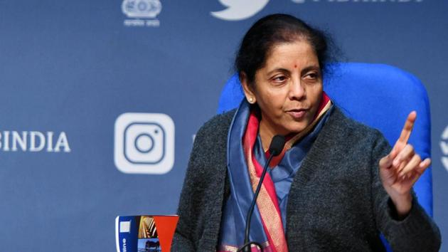 Union finance minister Nirmala Sitharaman(ANI)