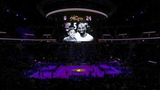 Jan 27, 2020; Minneapolis, Minnesota, USA; The Minnesota Timberwolves held a memorial for Kobe Bryant and his daughter Gianna before the game with the Sacramento Kings at Target Center. Mandatory Credit: Bruce Kluckhohn-USA TODAY Sports(USA TODAY Sports)
