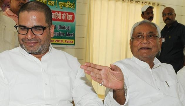 Prashant Kishor and ex-diplomat Pavan K Varma have been two sharp, and vocal critics of the amended citizenship law that have led to protests in many parts of the country.(HT File Photos)