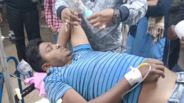 The injured are being treated at a hospital in West Bengal's Murshidabad.(HT Photo)