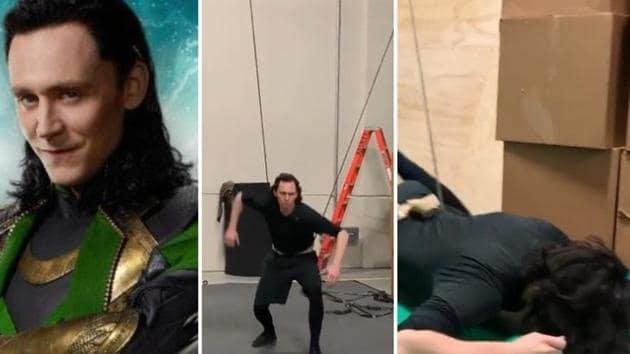 (Right) Tom Hiddleston as Loki in Avengers: Endgame (left) in a still from prep video.(Instagram)