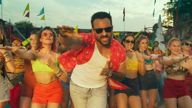 Saif Ali Khan in a still from Jawaani Jaaneman.
