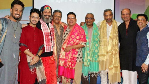 (From left) The cast and crew of Secrets of Seenagers; Kuldeep Das, Abhigyan Mukherjee, Faredoon Bhujwala, Nandu Bhagwat, Ashok Row Kavi, Ivan John, Anand Vasudevan, Milind Phatak and Dr Prasad Raj Dandekar(Photo: QGraphy)