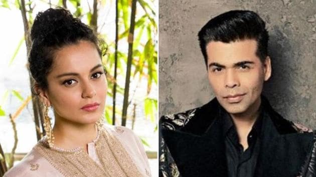 Kangana Ranaut and Karan Johar had a fallout after she accused him of promoting nepotism.(Instagram)