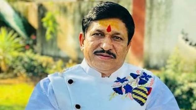 """BJP's Maihar MLA Narayan Tripathi said the party should either follow Babasaheb Ambedkar's Constitution or """"tear and throw it away"""", as it is clear that the nation cannot be divided on religious lines.(Photo Courtesy: Narayan Tripathi / Twitter)"""