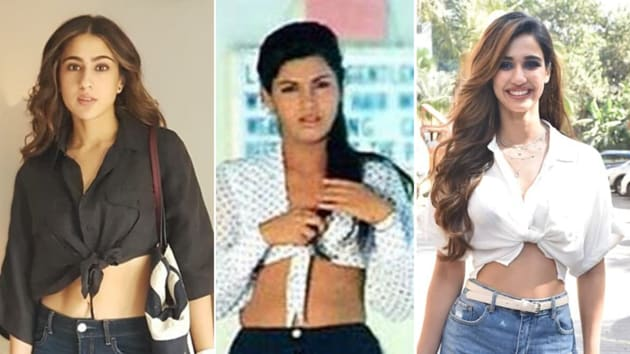 Who remembers Dimple Kapadia looking like an absolute stunner in the sexy white and black polka-dotted front tie crop top over a black skirt as she swayed shyly with Rishi Kapoor in Bobby? Well looks like the trend is back.(INSTAGRAM)