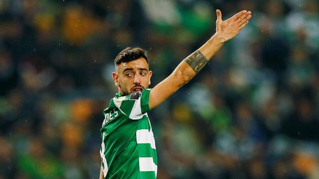 Sporting CP's Bruno Fernandes in action.(REUTERS)