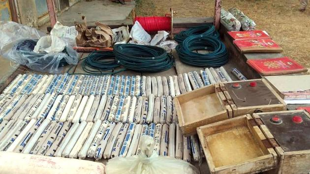 Huge quantity of illegal explosives were recovered from a trader's house in Odisha.(HT Photo/File/Representative)