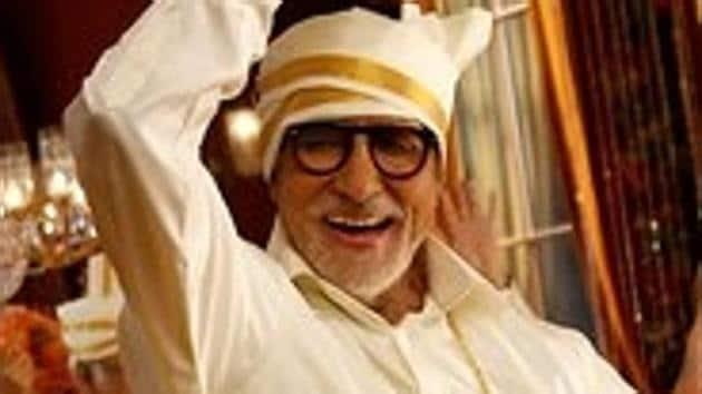 Amitabh Bachchan shoots for an advertisement.(IANS)