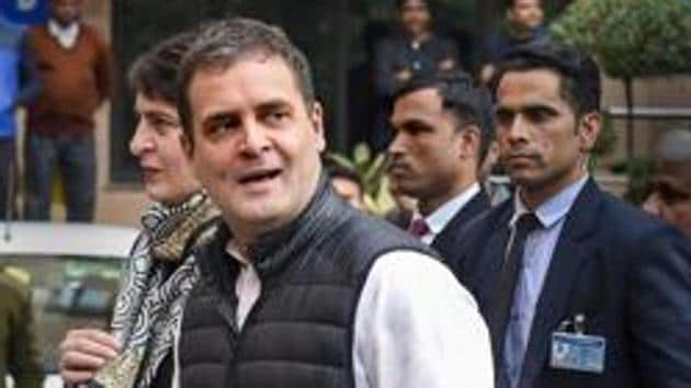 Congress leader Rahul Gandhi on Wednesday attacked the government over the state of the economy(PTI)