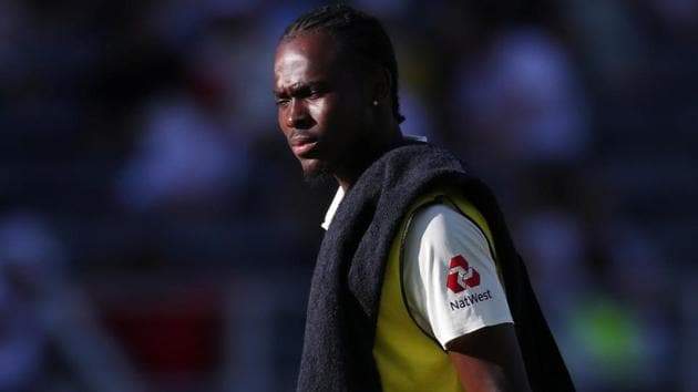 File image of England cricketer Jofra Archer.(REUTERS)