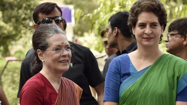 There is no clarity on whether Congress president Sonia Gandhi or party general secretary Priyanka Gandhi Vadra will address any poll campaigns in Delhi.(Ajay Aggarwal/HT File Photo)