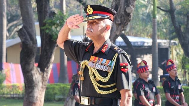 Lieutenant General CP Mohanty, army commander, Southern Command.(HT PHOTO)