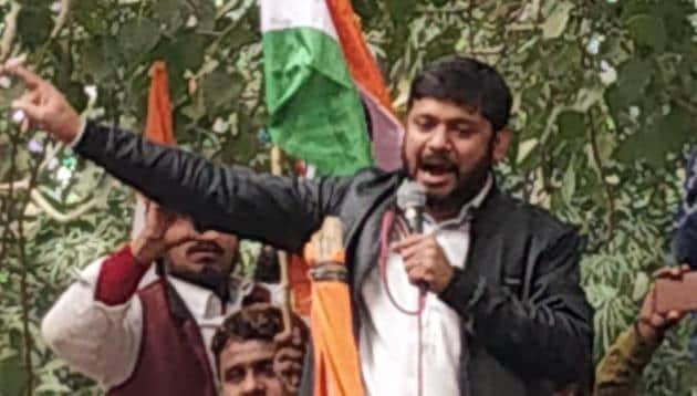 CPM leader and former JNU student Union leader Kanhaiya Kumar was detained from Bihar on Thursday.(HT Photo)
