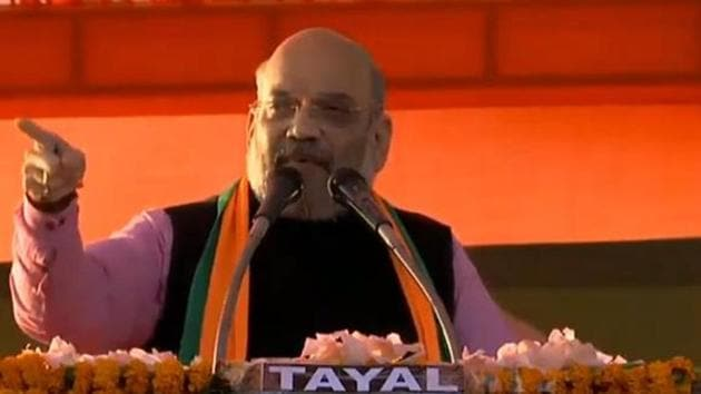 Amit Shah threw a direct challenge to Arvind Kejriwal to save his New Delhi seat.(Courtesy: Twitter-@BJP4India)