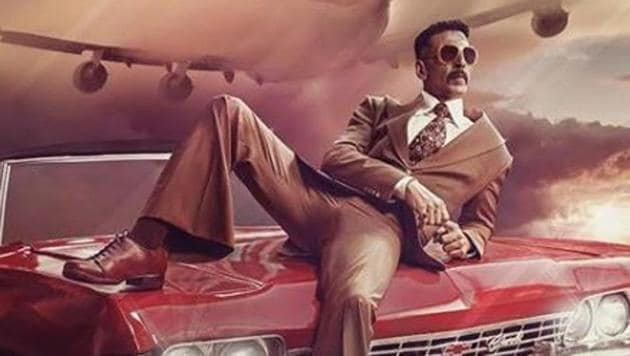 Akshay Kumar in a first-look poster of Bell Bottom.(Instagram)