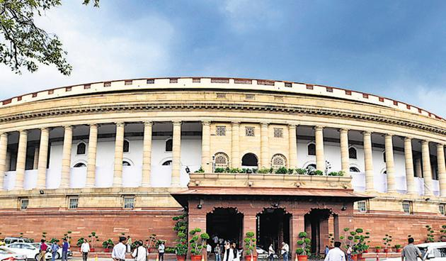 The budget session of Parliament begins on Friday. Members will meet at a particularly important moment. Politically, the passage of legislation — especially the Citizenship (Amendment) Act (CAA) during the winter session — has created a controversy.(Raj K Raj/HT PHOTO)