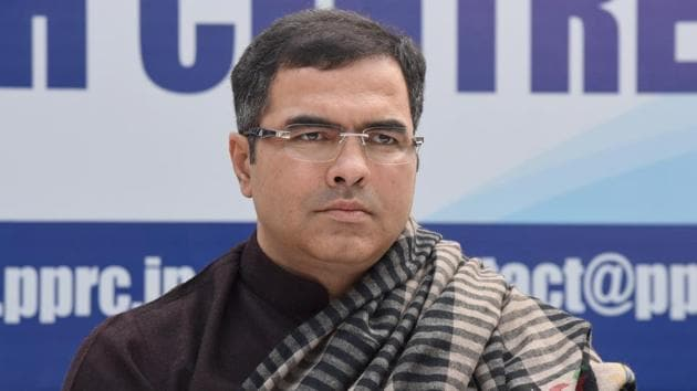At a rally in Madipur, West Delhi MP Parvesh Verma was heard terming CM Arvind Kejriwal a terrorist.(Sonu Mehta/HT PHOTO)
