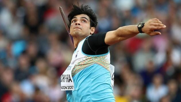 Neeraj Chopra competes during the men's javelin qualification during the 16th IAAF World Athletics Championships London 2017.(Getty Images for IAAF)