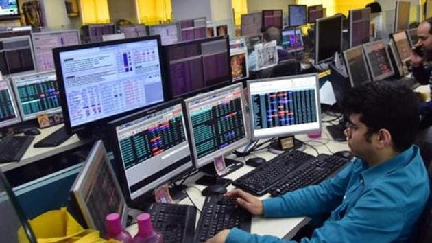 NSE was trading 41.65 points, or 0.34 per cent, down at 12,087.85.(ANI File Photo)