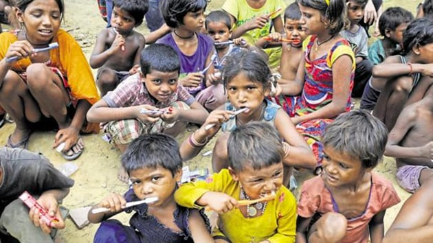 With the recent impetus to schemes for ensuring nutrition and reduction in the mortality rate of children under 5 (from 59 per 1000 live births in 2000 to 39 in 2016), the total number of children in this age group is likely to increase in Census 2021.(HT Photo)