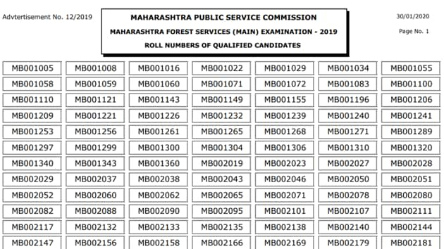 MPSC Forest Service Result 2019 out(MPSC)