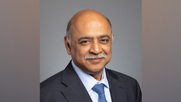 Indian-origin Arvind Krishna has been named as Chief Executive Officer (CEO) of International Business Machines(ANI/Twitter)
